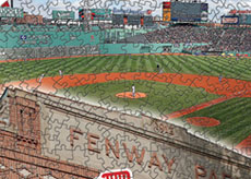 Fenway Park with Red Sox logo puzzle