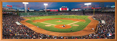 fenway park puzzle in frame