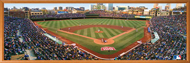 wrigley field puzzle in frame