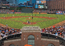 Camden Yards with Orioles logo puzzle