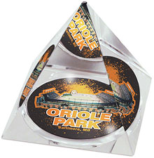 Camden Yards crystal pyramid