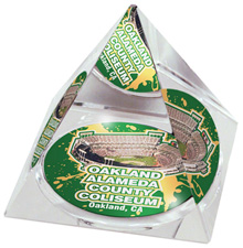 Oakland Coliseum crystal pyramid