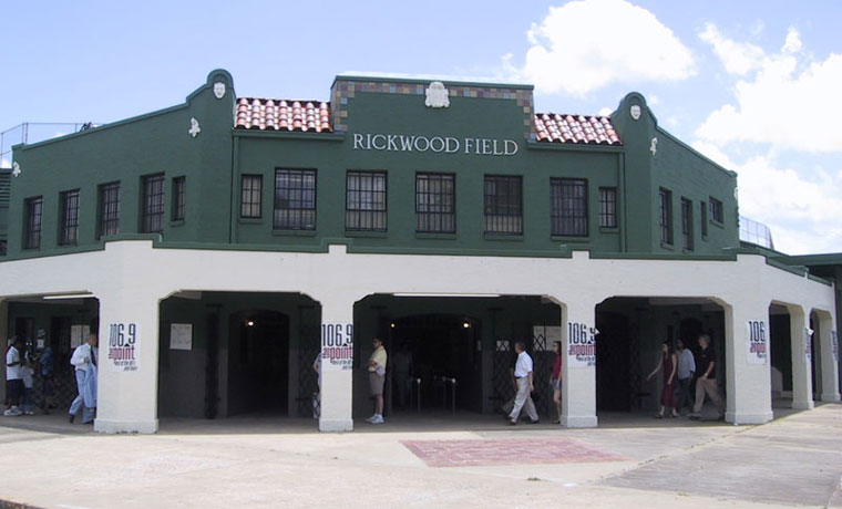 Rickwood Field's Mission style exterior