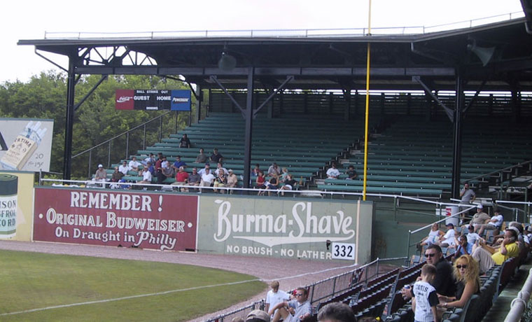 Right field grandstand at Rickwood Field