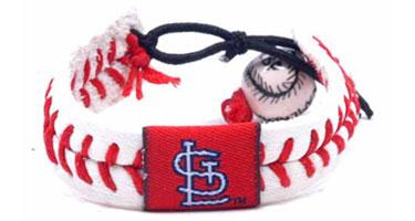 Cardinals Baseball Seam Bracelet