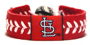 Cardinals Team Color Baseball Seam Bracelet