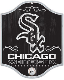 Chicago White Sox wooden logo sign
