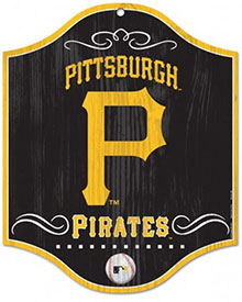 Pittsburgh Pirates wooden logo sign
