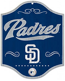 San Diego Padres wooden logo sign
