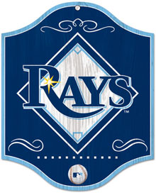Tampa Bay Rays wooden logo sign