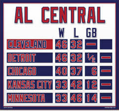 Cleveland Magnetic AL Central Standings