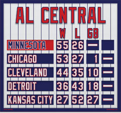 Minnesota Magnetic AL Central Standings
