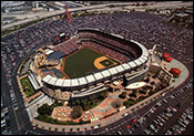 Angel Stadium aerial poster