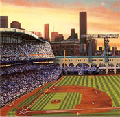 Houston Astros ballpark lithograph