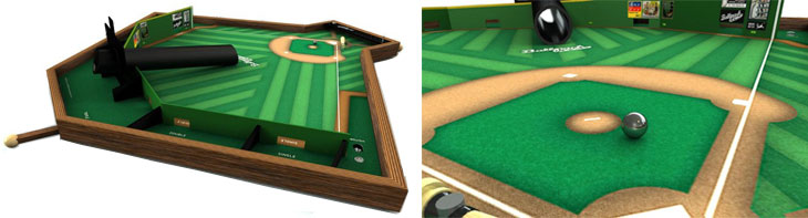 Ballpark Classics game board and ball