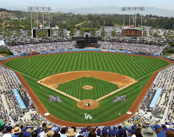 Los angeles dodgers fan store for Dodger stadium wall mural