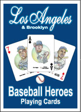 Los Angeles/Brooklyn baseball playing cards