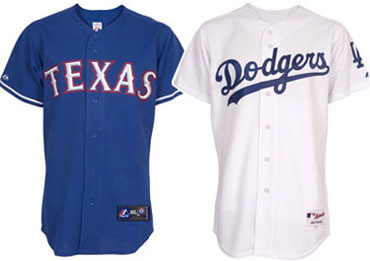 Major League team and player jerseys
