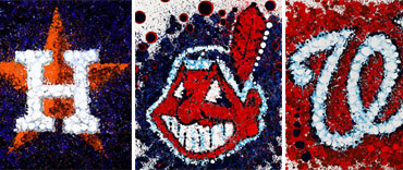 MLB logo art by Timothy Raines