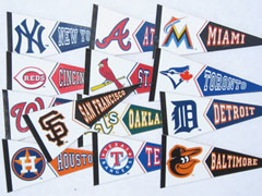 Team pennant magnets