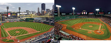Baseball stadium murals by Fathead