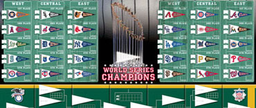 MLB division standings and playoff board