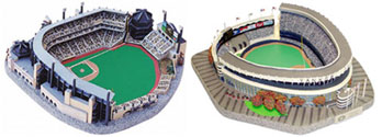 Baseball stadium replicas