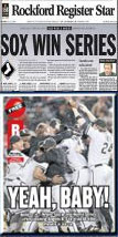 White Sox Front Page News collage poster