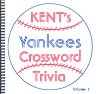 Yankees crossword trivia book