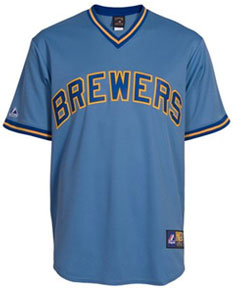 Milwaukee Brewers throwback jersey
