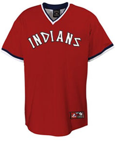 Cleveland Indians throwback jersey