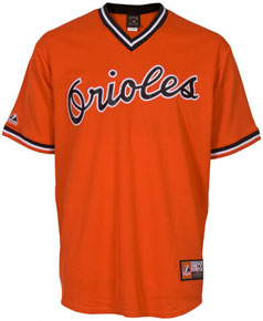 Baltimore Orioles throwback jersey
