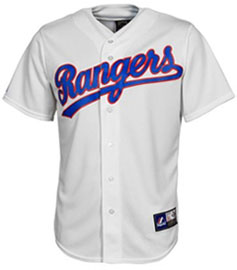 Texas Rangers throwback jersey