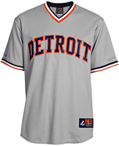 Detroit Tigers throwback jersey