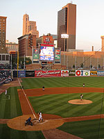 Fifth Third Field overlooks the Toledo skyline
