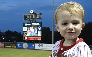 Young Walker at Greenville's newish Fluor Field