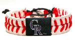 Colorado Rockies baseball wristband